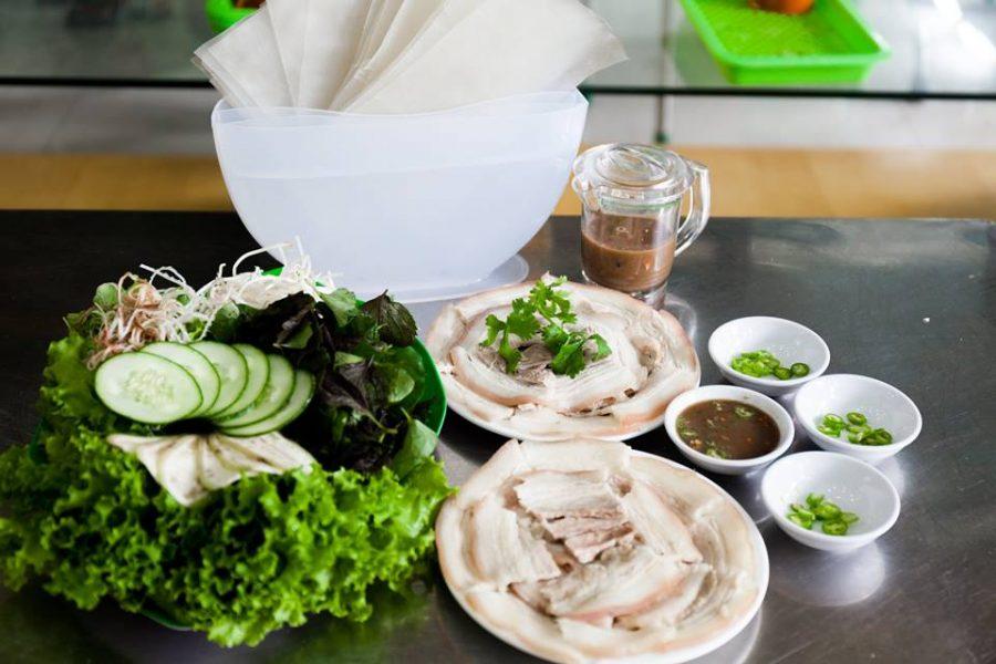 bánh tráng cuốn thịt heo nổi tiếng Đà Nẵng