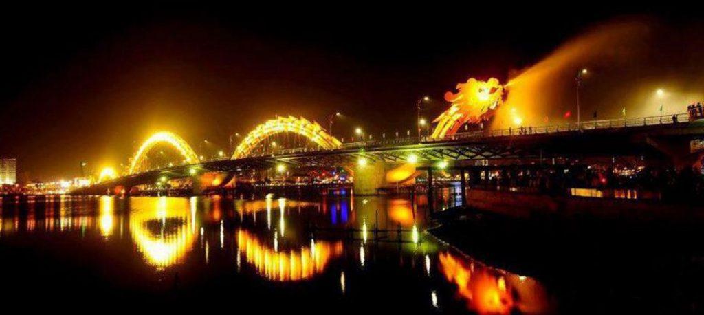 cầu rồng phun nước
